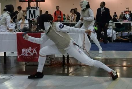 Senior Jess Gets Ready for College Fencing