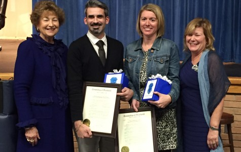 Teachers of the Year: Mr. Monafis & Mrs. Mayer