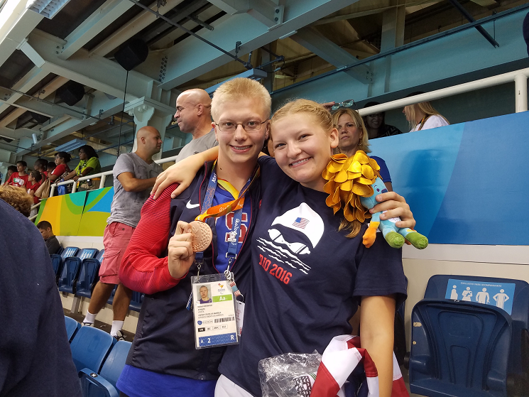 Robert+and+Molly+Griswold+showing+off+his+bronze+medal+in+Rio