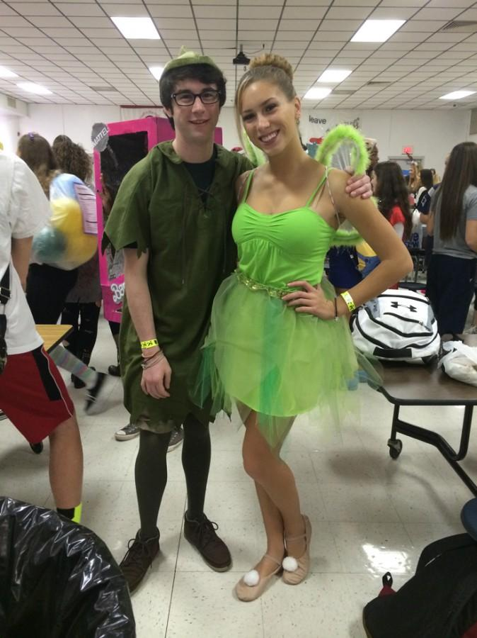 Zack Henderson and Drew Pollemus as peter pan and tinkerbell