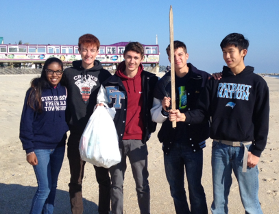 Alissa Persad, William Meyers, Ryan Smith, Mike Degrazia, and Ryan Chiu at the Octagon  Beach Sweep