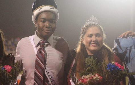 Grace Ganze, homecoming queen, with Serge Jean-Charles, homecoming king