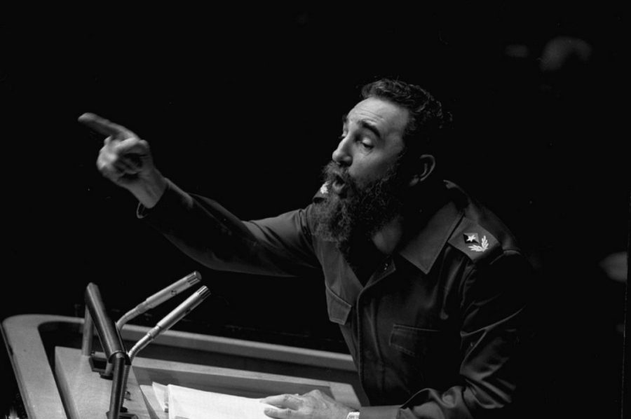 Fidel Castro delivering an address in 1979