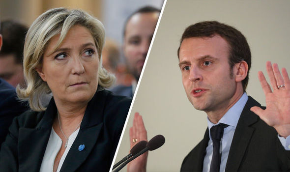 Le Pen and Macron at their final debate, image courtesy of The Daily Express