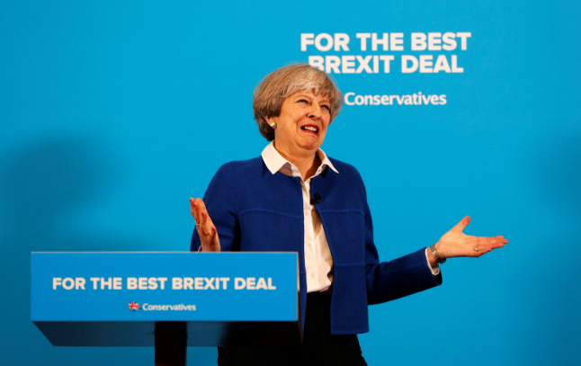 Prime+Minister+Theresa+May+speaking+at+an+election+campaign+event+in+Wolverhampton%3A+%0AImage+Courtesy+of+Darren+Staples%2C+Reuters%0A