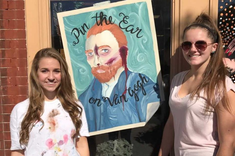 FTHS Artists Show Their Skills at Spooktacular Window Painting Contest