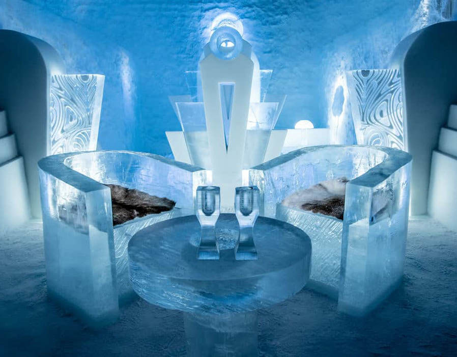 The IceHotel, Sweden  (image courtesy of the Daily Express)