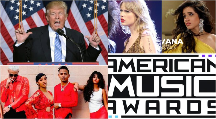 """This Week in Pop Culture News: Taylor vs. Trump, AMAs, and """"Taki Taki"""" Team-Up"""