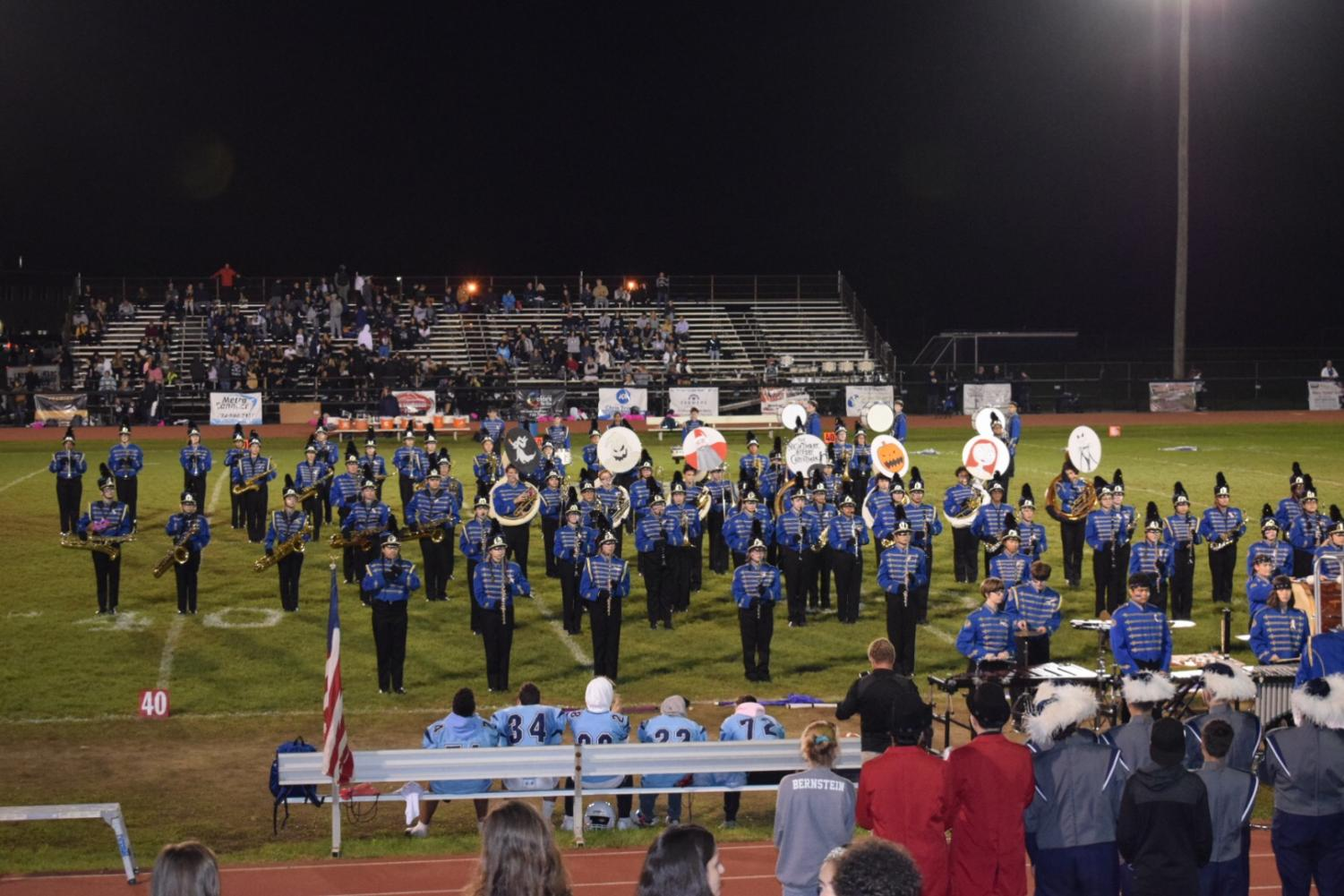 The FTHS Band performs during Homecoming 2018