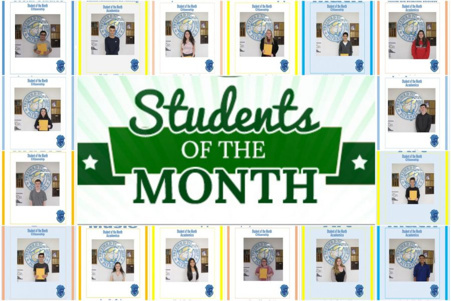 October, November Students of the Month