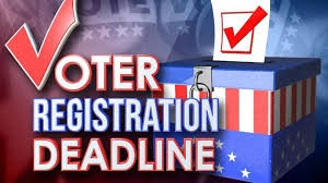 NJ Voter Registration Deadline: October 13th!